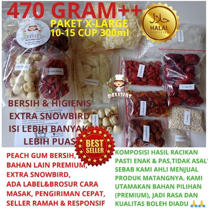 Foto Produk Peach Gum Dessert Lengkap Isi Komplit dan Banyak 430g dari delisias