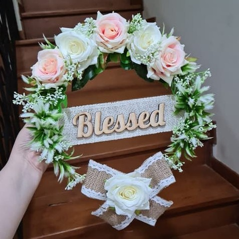 Jual Arceli Flower Wreath Floral Hop Home Decor Hiasan Bunga Eid Mubarak Kab Sleman Veilenbaby Tokopedia