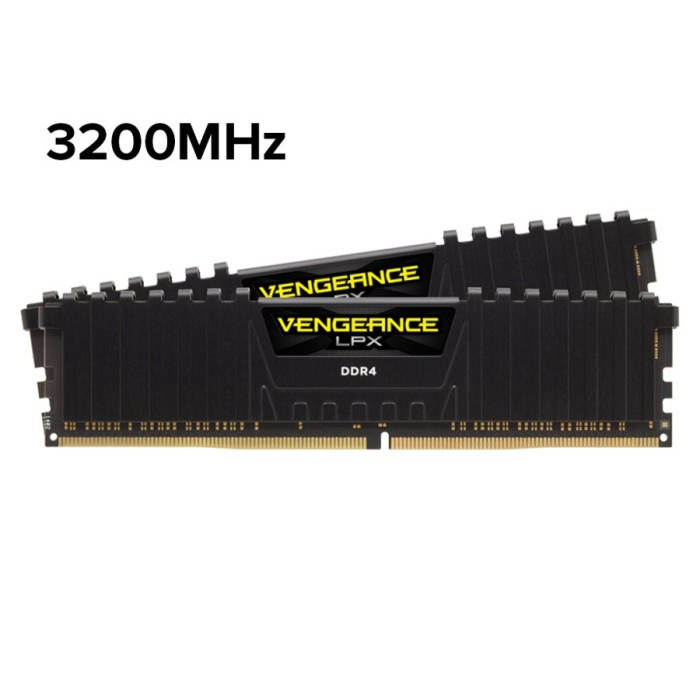 Foto Produk Vengeance LPX 16GB(2x8GB) DDR4 3200MHzC16 Black (CMK16GX4M2B3200C16) - Hitam dari Corsair Official Store