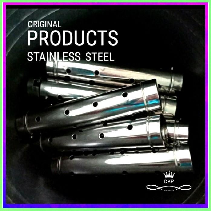 Foto Produk 12 Pcs Cetakan Lontong Stainless stell 15 Cm X 4 Cm_Bisa COD dari Pallopo