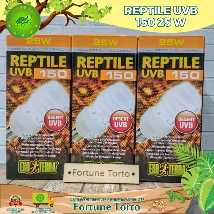 Foto Produk Uvb type 150 25 watt exoterra/lampu reptile/ lampu pengganti matahari dari Fortune Torto