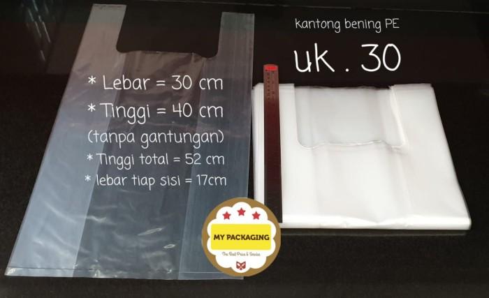 Foto Produk Kantong plastik BENING ukuran 30cm - 500Gr/pack isi 30pcs - dari My Packaging