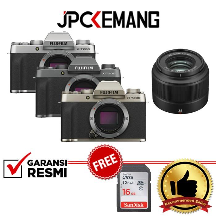 Foto Produk Fujifilm XT200 Kit XC 35mm f2 / Fuji X-T200 Kit 35mm f2 GARANSI RESMI - Champagne Gold dari JPCKemang