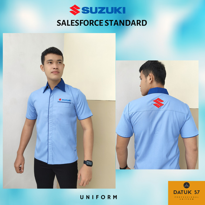Foto Produk Seragam Kemeja Suzuki Sales Resmi Variasi Biru (Pria) - Biru Muda, S dari Datuk Collection