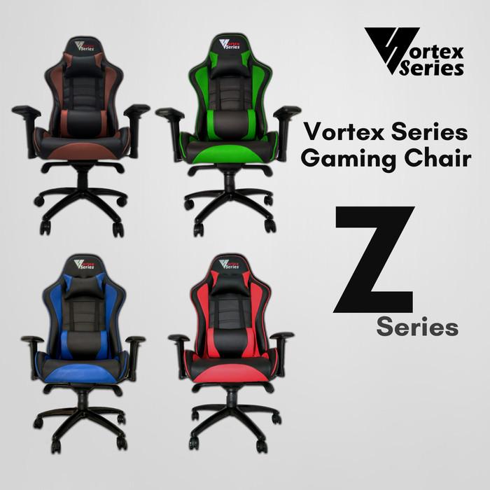 "Foto Produk Vortex ""Z"" Series Gaming Chair / Kursi Gaming Komputer - White List Red dari VortexSeries"