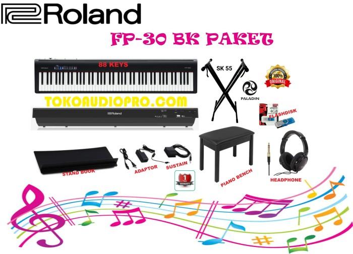 Jual Roland Fp30bk Fp 30bk Fp 30 Bk Digital Piano Paket Jakarta Pusat Tokoaudiopro Tokopedia