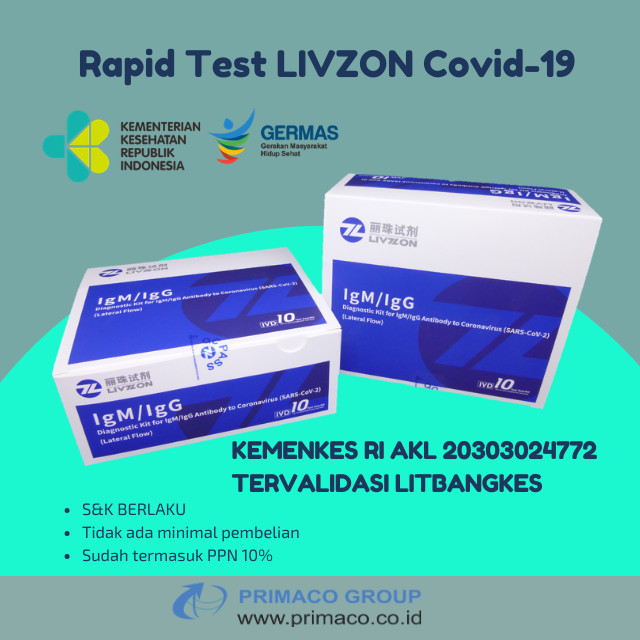 Foto Produk Livzon Rapid Test dari Primaco Group