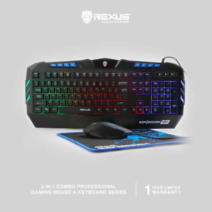 Foto Produk Rexus Keyboard Mouse Warfaction VR1 Combo dari Rexus Official Store