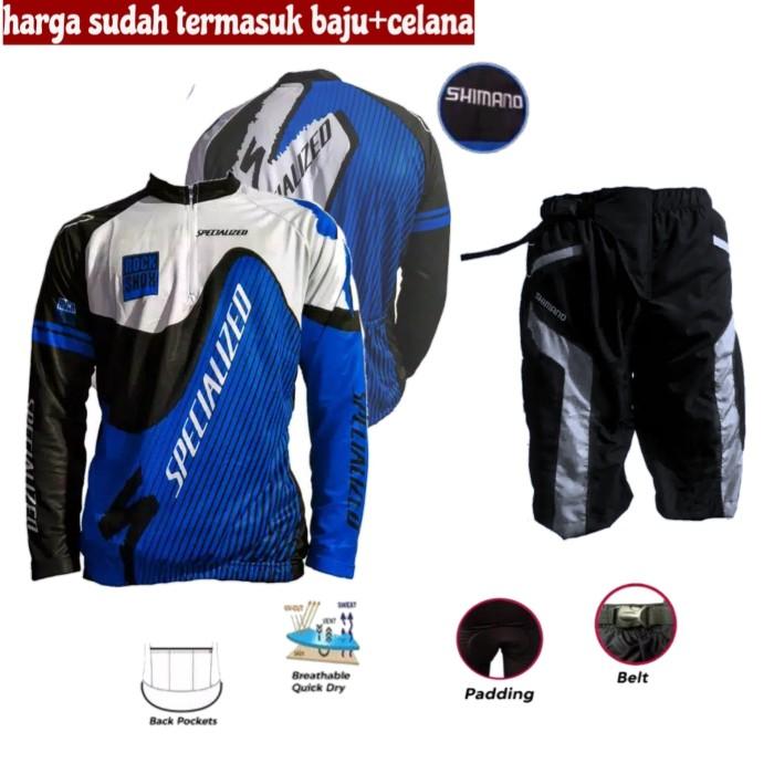 Foto Produk Baju Sepeda Celana Jersey Kaos Kantong Belakang dari mangnandang