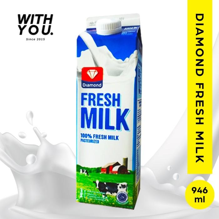 Foto Produk fresh milk diamond | susu diamond | pasteurisasi diamond 956 ml dari withyou