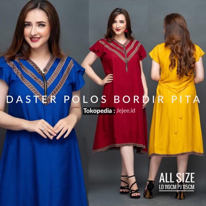 Foto Produk Daster Polos Bumil Busui Dress Arab Rayon All Size - Hijau dari Jejee ID