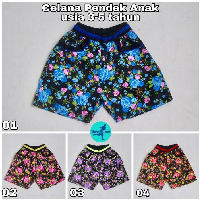 Foto Produk Celana Pendek / Kolor Anak Perempuan Motif Bunga Kembang dari Fifanda Sport