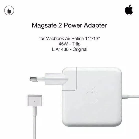 Foto Produk Adaotor / Charger Apple Macbook Air Magsafe 2 45W Original dari Toko Pratama Computer