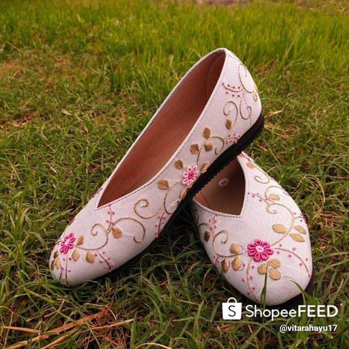 Jual Sepatu Sulam Permata Kota Pasuruan Purnama Rahayu Tokopedia