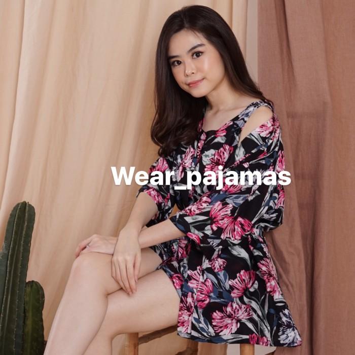 Foto Produk KIMONO 3in1 PIYAMA WANITA MOTIF MONITA dari Wear Pajamas
