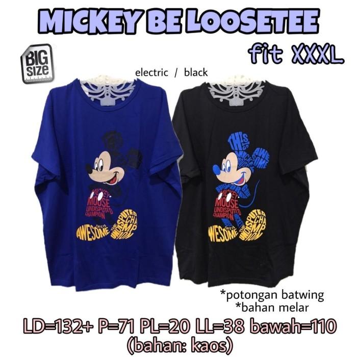 Foto Produk Mickey Be Loosetee 3L Kaos Lucu Jumbo Rumah Santai Wanita dari Shop With Mali