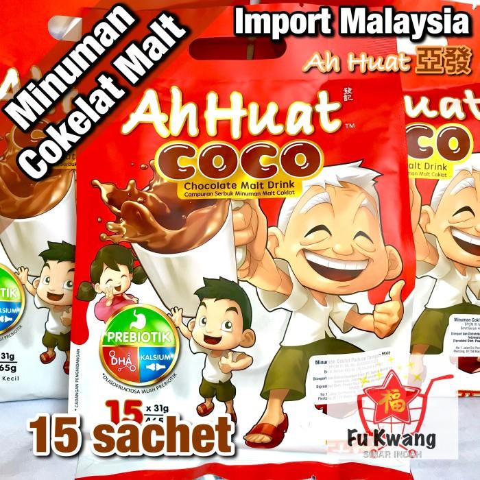 Foto Produk Ah Huat Coco Minuman Cokelat Chocolate Malt Drink 465 gram dari Fu Kwang Mart