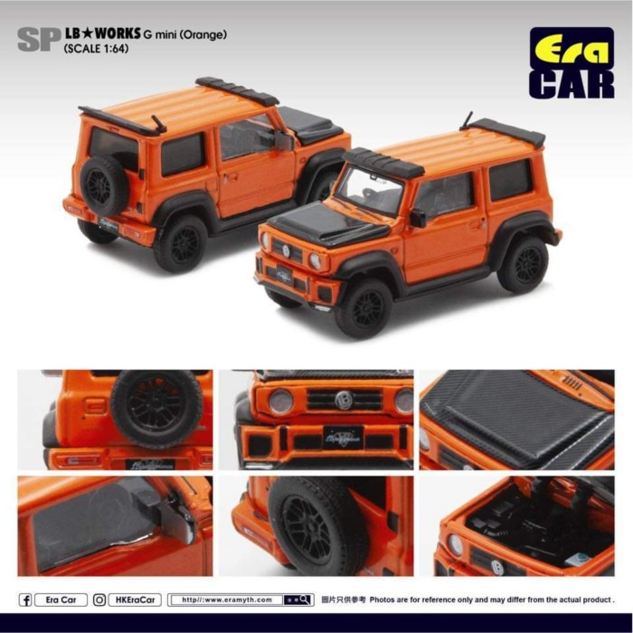 Foto Produk Era Car 1/64 LBWorks Suzuki Jimny G Mini Orange dari Vovo Toys