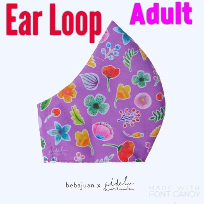 Foto Produk Ideku Handmade x Bebajuan EAR LOOP MASK - PURPLE (Adult) dari Deprink