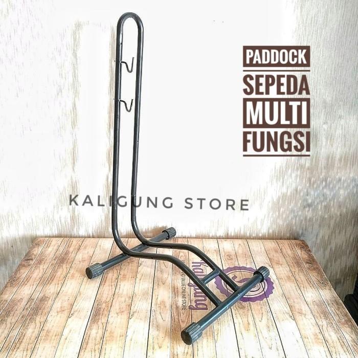 Foto Produk PDL03 Paddock Sepeda Multi Fungsi - Standar Sepeda Gowes - Bike Stand dari Kaligung