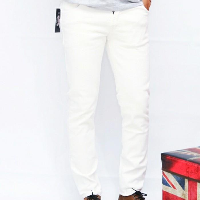 Foto Produk Celana jeans putih original ghahar/ celana jeans denim - Putih, S dari S2 LCM CLOTH
