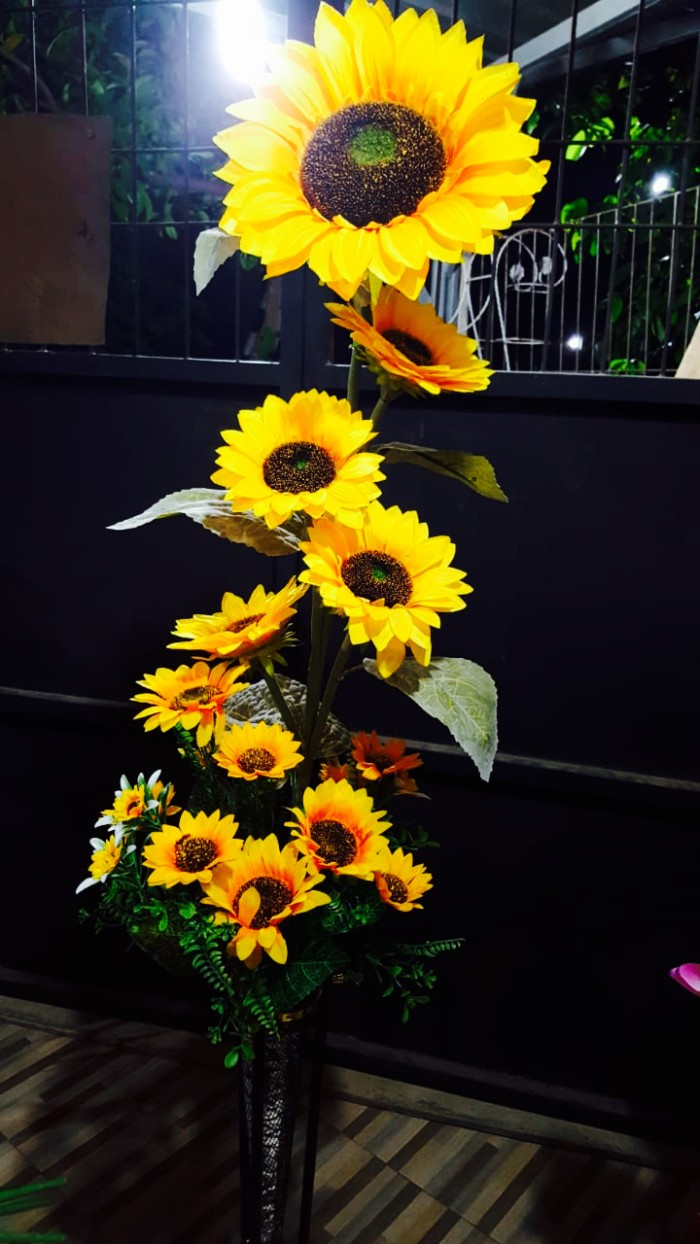 Jual Bunga Matahari Plastik Bunga Hias Plastik Tanaman Artificial Dekorasi Kab Bogor Rinpai Store Tokopedia