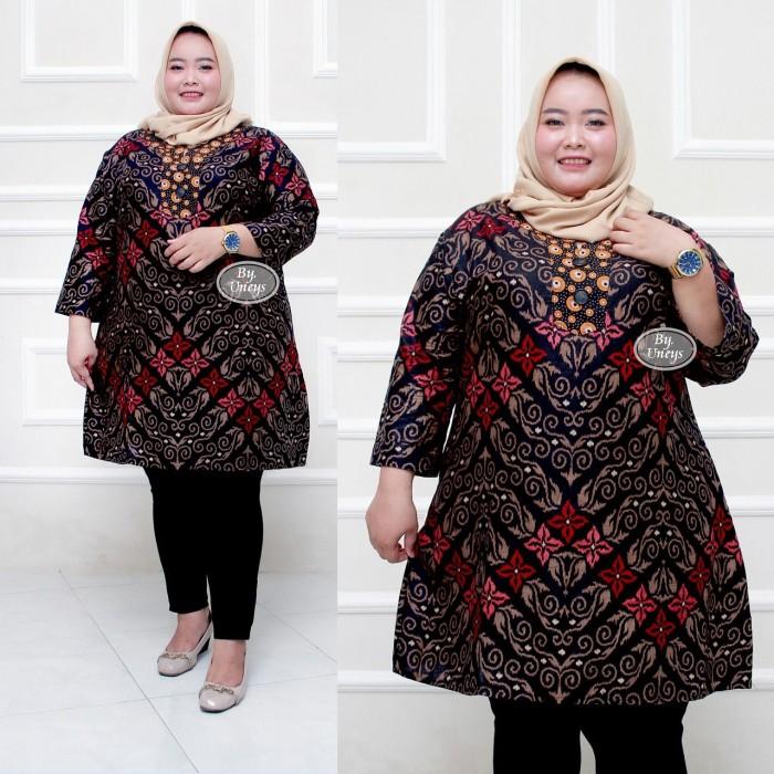 Foto Produk Baju batik tunik atasan wanita super jumbo ld 140 motif songket dari TABASAMA