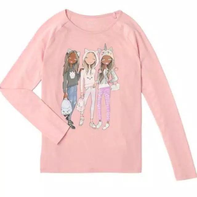Foto Produk Baju anak kaos sequin branded Children's Place pink girls 4-12 T - 4-5 tahun dari Galeri Ona