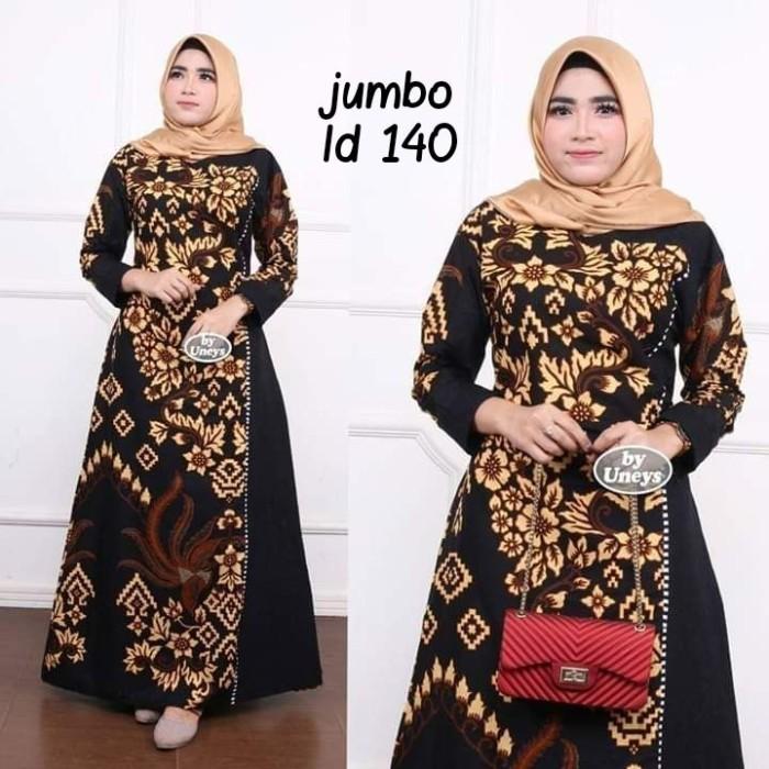 Foto Produk Baju dress gamis wanita super jumbo ld 140 batik kombinasi motif dari TABASAMA