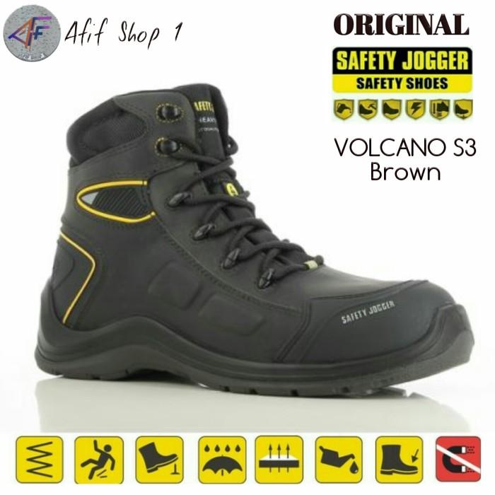 Foto Produk Sepatu Safety Jogger Volcano S3 BROWN SRC ORIGINAL - Joger Volcano - 38 dari Afif Shop 1