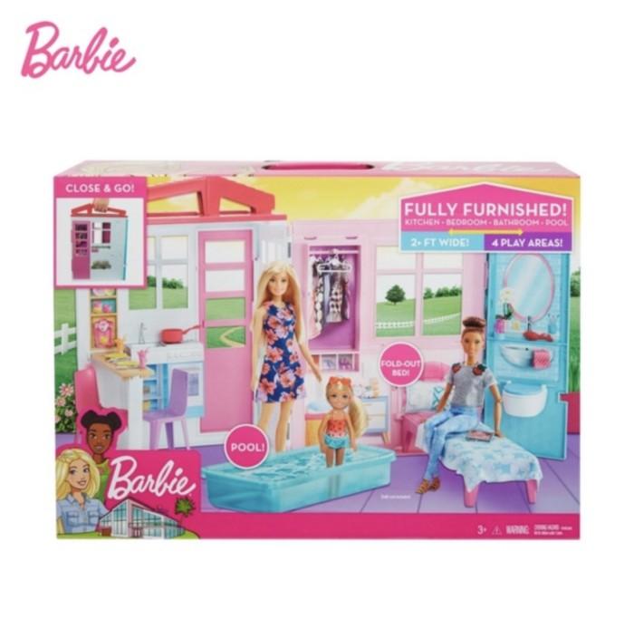 Jual Barbie 2 Story House Rumah Boneka Permainan Toy Anak Perempuan Kab Bogor Ms Branded Outlet Tokopedia
