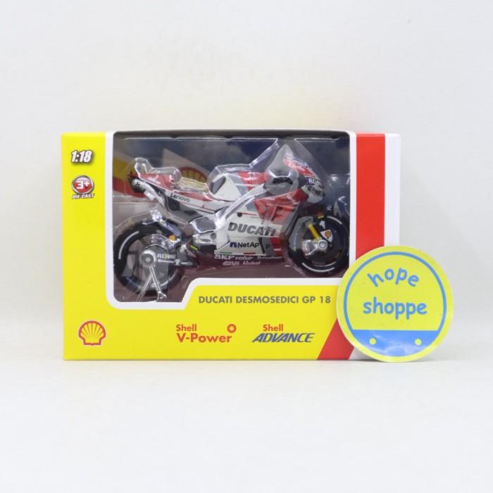 Foto Produk Diecast Motor Shell V Power Ducati Desmosedici GP 18 Ori Limited dari Hope Shoppe