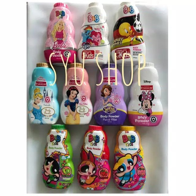 Foto Produk Bedak anak baby kids kid powder eskulin B&B BnB all variant dari Syu shop