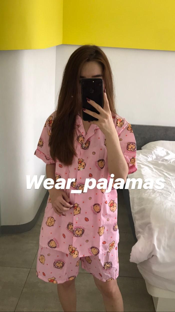 Foto Produk PIYAMA KAOS KATUN IMPORT TERMURAH dari Wear Pajamas