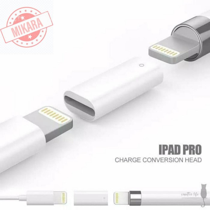 Foto Produk Converter Lightning Female to Female untuk Charger Apple Pencil dari mikara