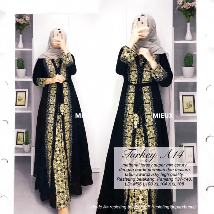 Jual Abaya Turkey Shafa Baju Muslim Abaya Bordir Hitam M Kota Surakarta Dnd Cloth Tokopedia