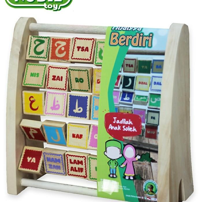 Foto Produk Hijaiyah berdiri, mainan edukatif edukasi Islami anak kayu tk paud dari Edukasi Toys