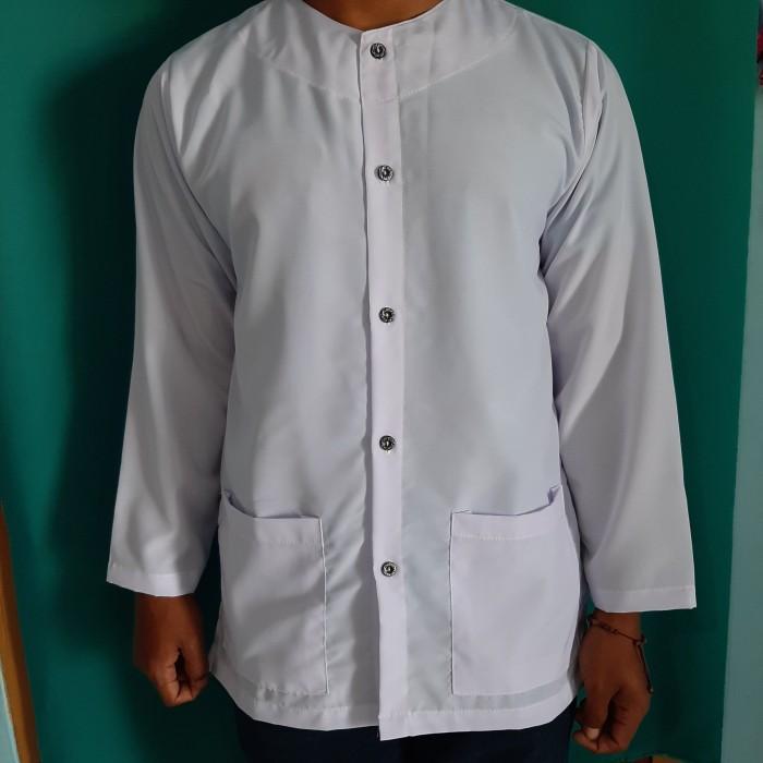 Foto Produk Baju pangsi oblong tanpa kerah - Putih, M dari maedina colection