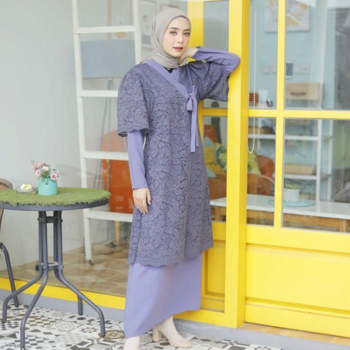 Foto Produk Yuri Hanbok Maxidress Persian Blue (Dress + Outer Brukat) - S-M dari sheenofficial