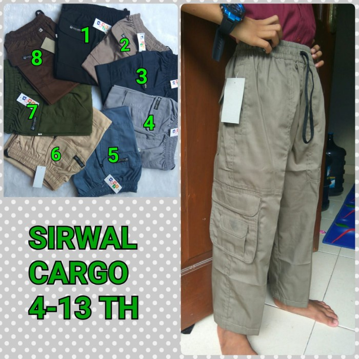 Jual Sirwal Cargo Remaja Biru Dongker Kota Bekasi Dapur Babeh Tokopedia