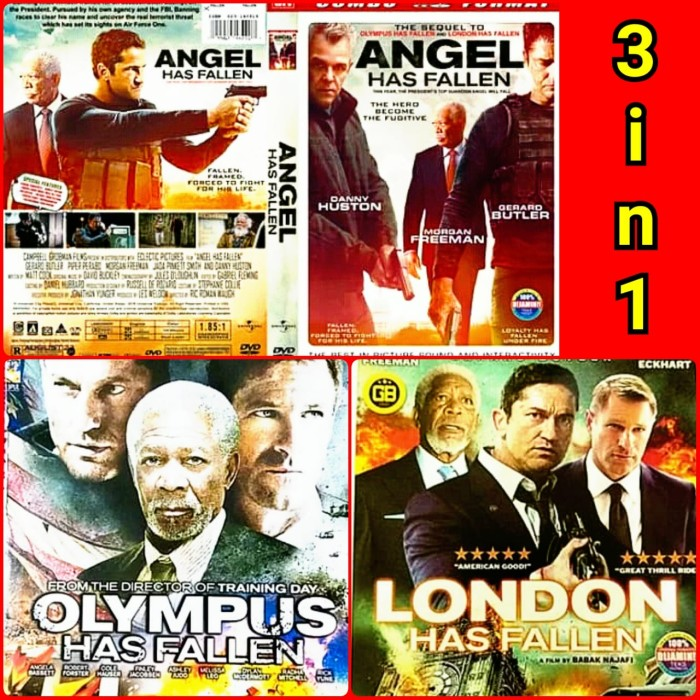 Jual Kaset Dvd Original Film Angel Has Fallen Hd 3 Disk Full Movie Jakarta Barat La Store Id Tokopedia