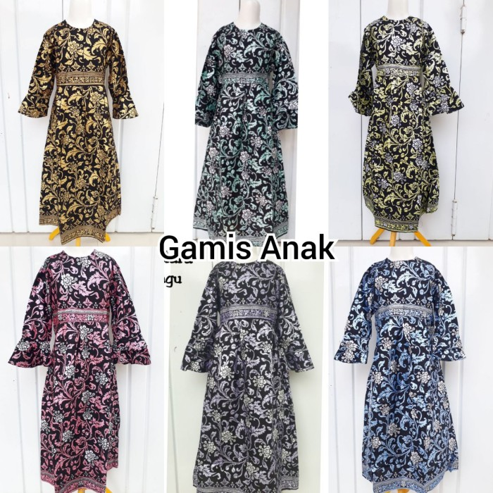Jual Gamis Batik Anak Perempuan Baju Batik Anak Perempuan Gamis Murah Kota Pekalongan Dafin Batik Pekalongan Tokopedia
