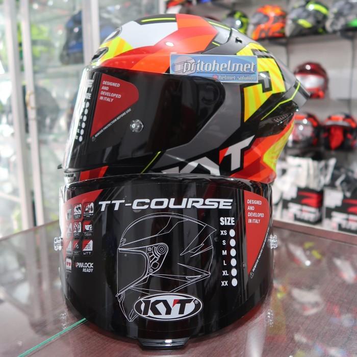 Foto Produk Visor Dark Smoke KYT TT Course Original dari yogyakarta helmet