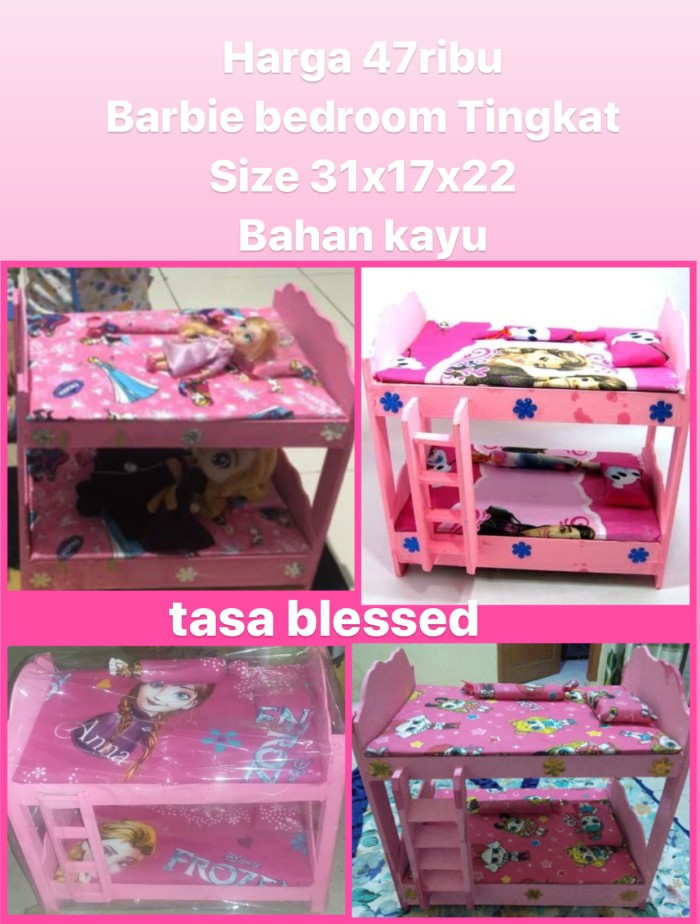 Jual Kasur Tingkat Barbie Barbie Bedroom 2 Tingkat Kab Tangerang Tasa Blessed Tokopedia