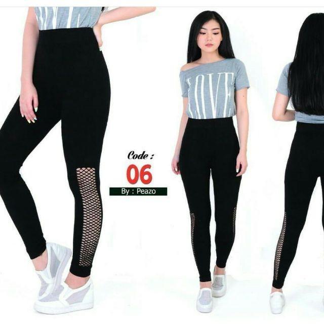 Jual Celana Legging Motif Sobek Premium Celana Daily Legging Kota Jambi Ziie Gallery Tokopedia