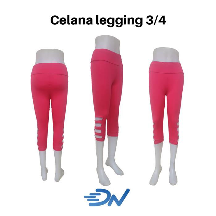 Jual Celana Legging Wanita Sport 3 4 Warna Pink Merah Muda L Kota Tangerang Diazsportstore Tokopedia