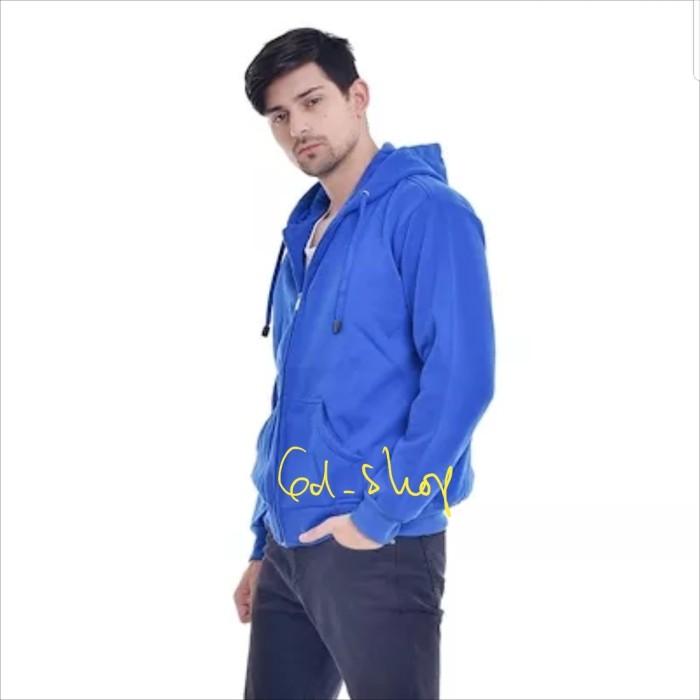 Foto Produk Jaket Hoodie Zipper Man - Royal (Size XL) dari GD.SHOP