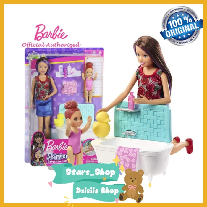 Jual Boneka Barbie Skipper Babysitters Bath Time Original Mainan Barbie Jakarta Utara Stars Shop Tokopedia