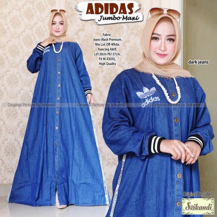 Foto Produk Dress Gamis Adidas Jumbo Jeans Premium Busana Muslim / Baju Muslim dari Busana Muslim Modern 77