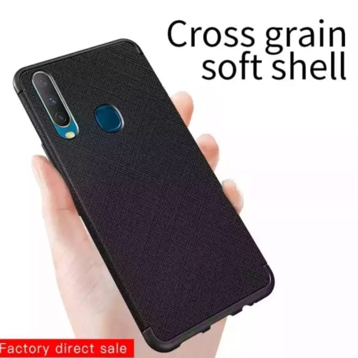 Foto Produk Case Vivo Y67 V5 Softcase Slim Cross Galeno Silicon Mate Hitam Casing dari Indo Smart Acc